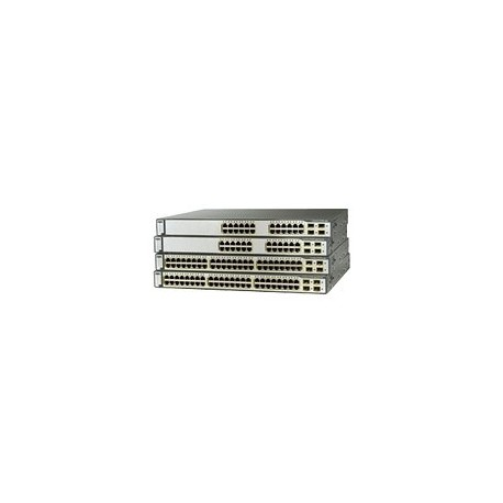 Cisco WS-C3750G-48PS-S Catalyst 3750 Series SMI 48 Port 802.3af POE Gigabit Switch