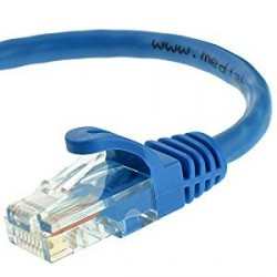 CAT5E Ethernet Patch Cable, Booted, 15ft, Blue